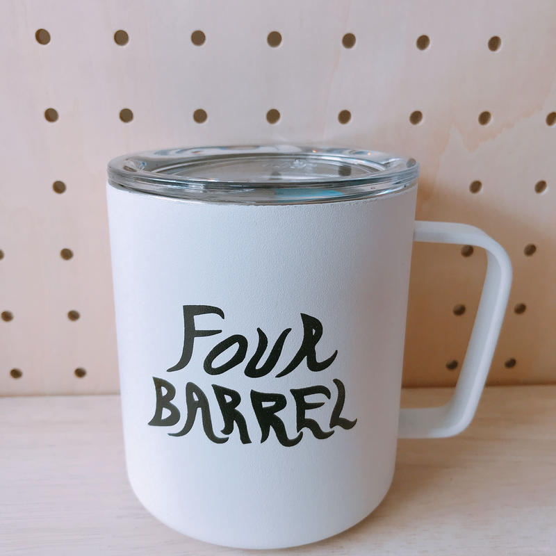 FOUR BARREL COFFEE MUG CUP