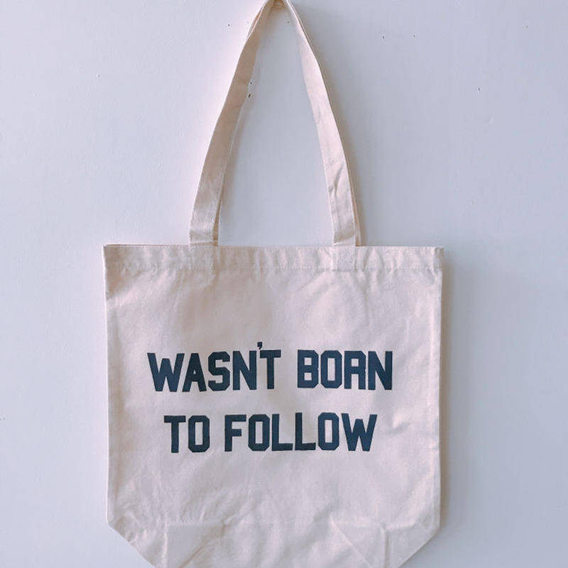"BOOKNERD オリジナルトート""WAS'NT BORN TO FOLLOW"""