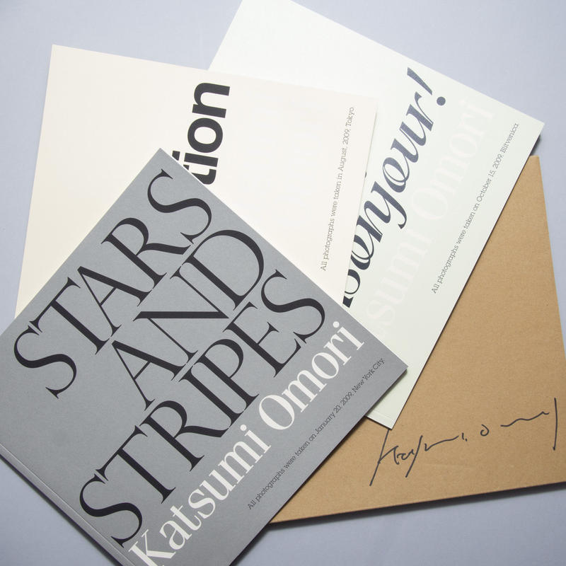 [サイン入/ Signed] STARS AND STRIPES ,incarnation,  Bonjour! 3冊セット / 大森克己 (Katsumi Omori )