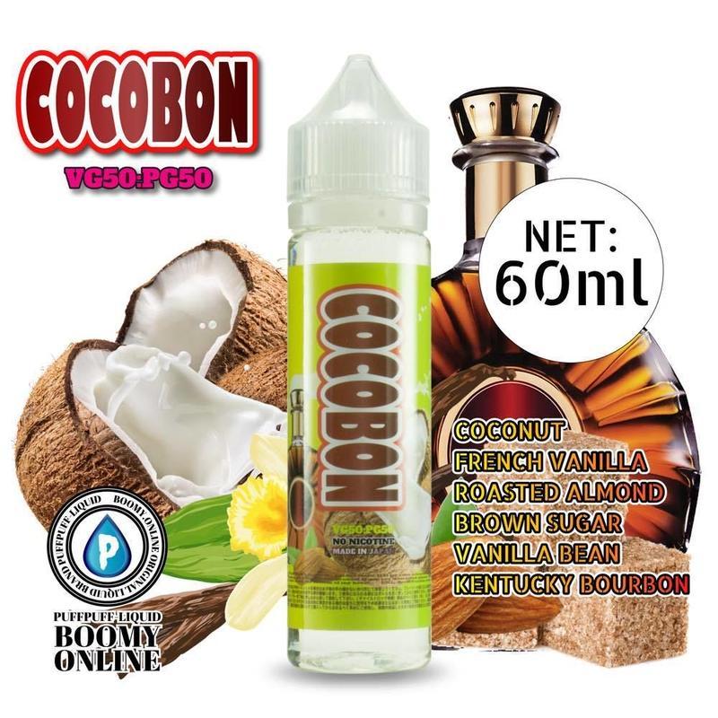 〓PuffPuff-Liquid〓COCOBON-大容量60ml(ココボン)バーボン、アーモンド、バニラ、ココナッツ、ブラウンシュガー
