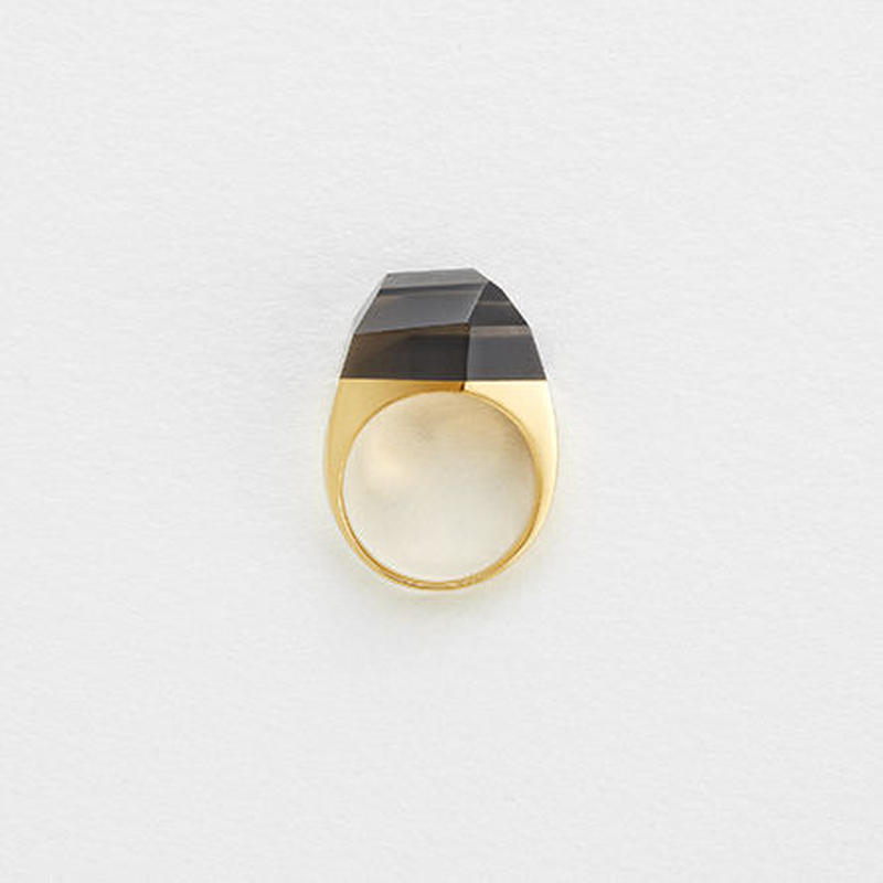 Smoky Quartz Rock Ring (Crystal)