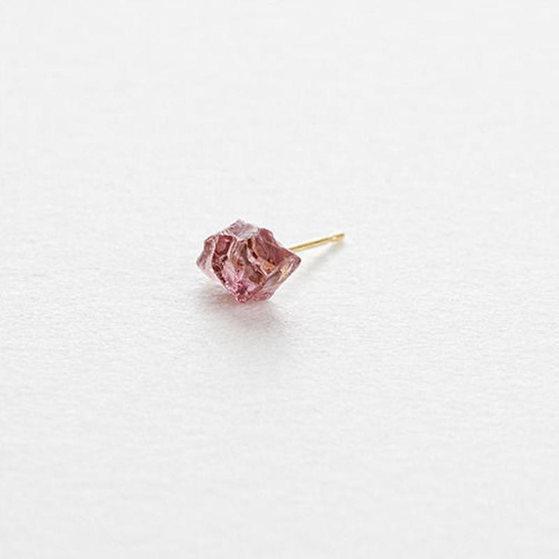 Rhodolite Rock Earring