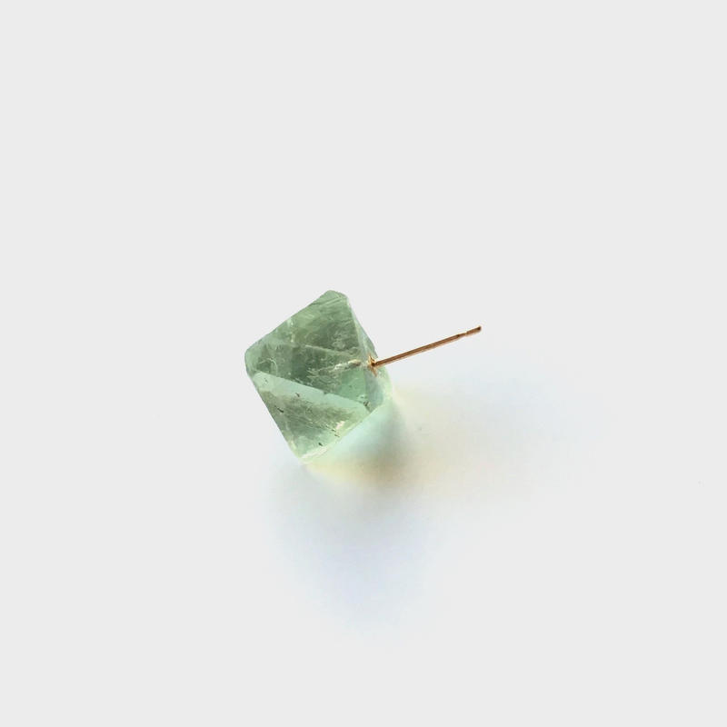 Fluorite Rock Earring