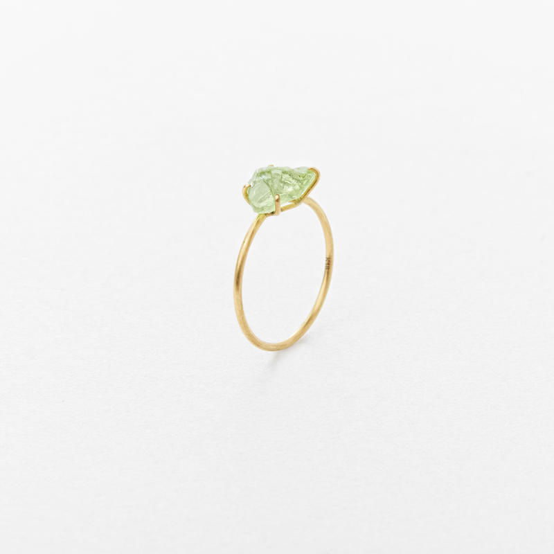 Green  Grossular Gem Ring