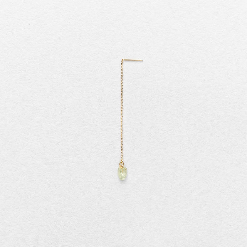 Green Grossular Drop Earring