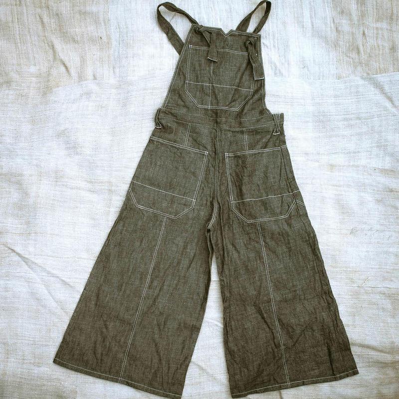 Wide Leg Overall (Black Denim)