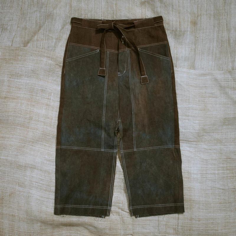Dungaree Slit Skirt PP (Purple)