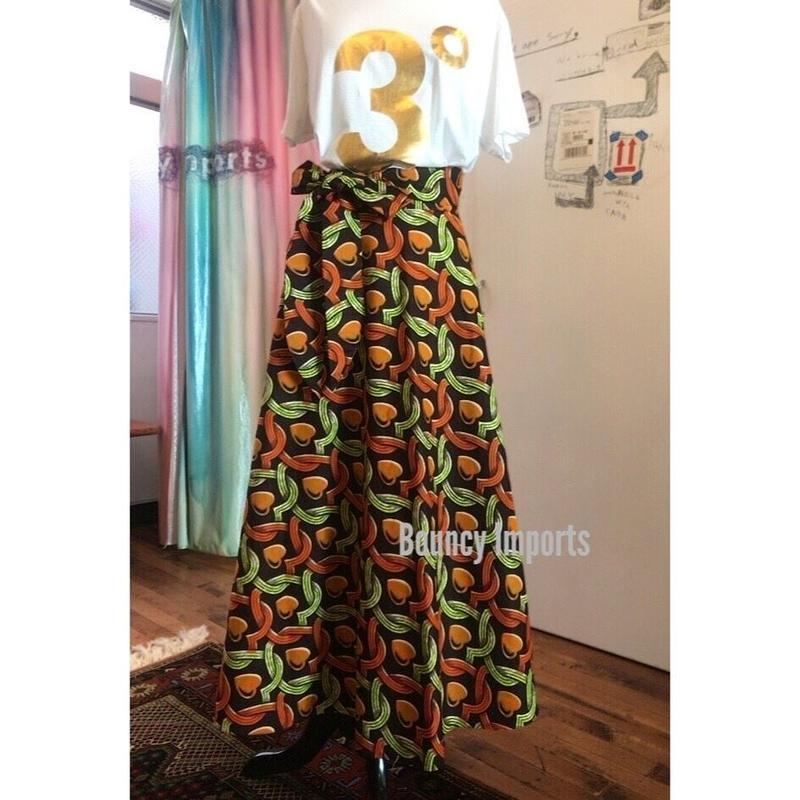 Bouncy Skirt  バウンシースカート ラップスカート  heart brown