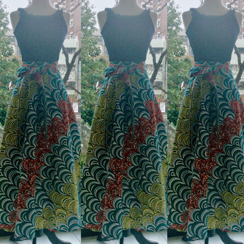 Bouncy Skirt  バウンシースカート ラップスカート Peacock