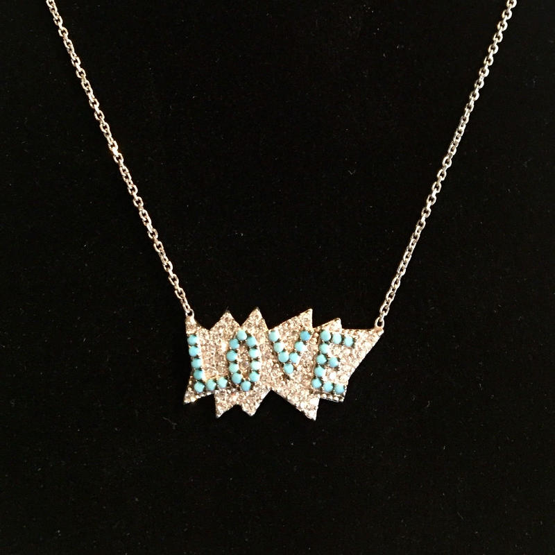 Silver LOVE necklace シルバーLOVEネックレス