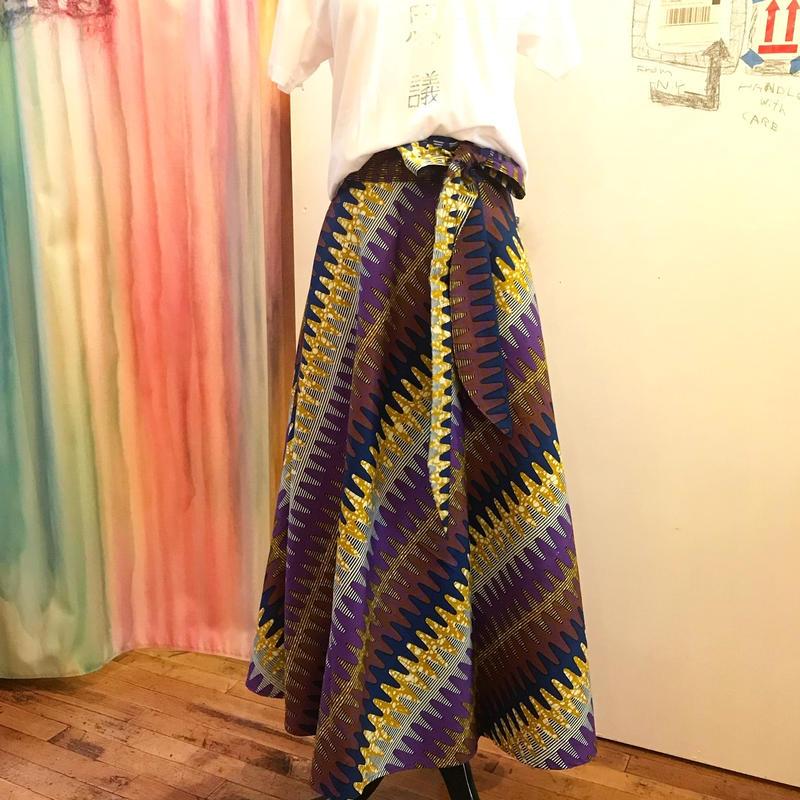 Bouncy Skirt  バウンシースカート ラップスカート purple navy wave