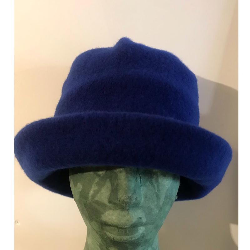 ウール ハット Royal blue