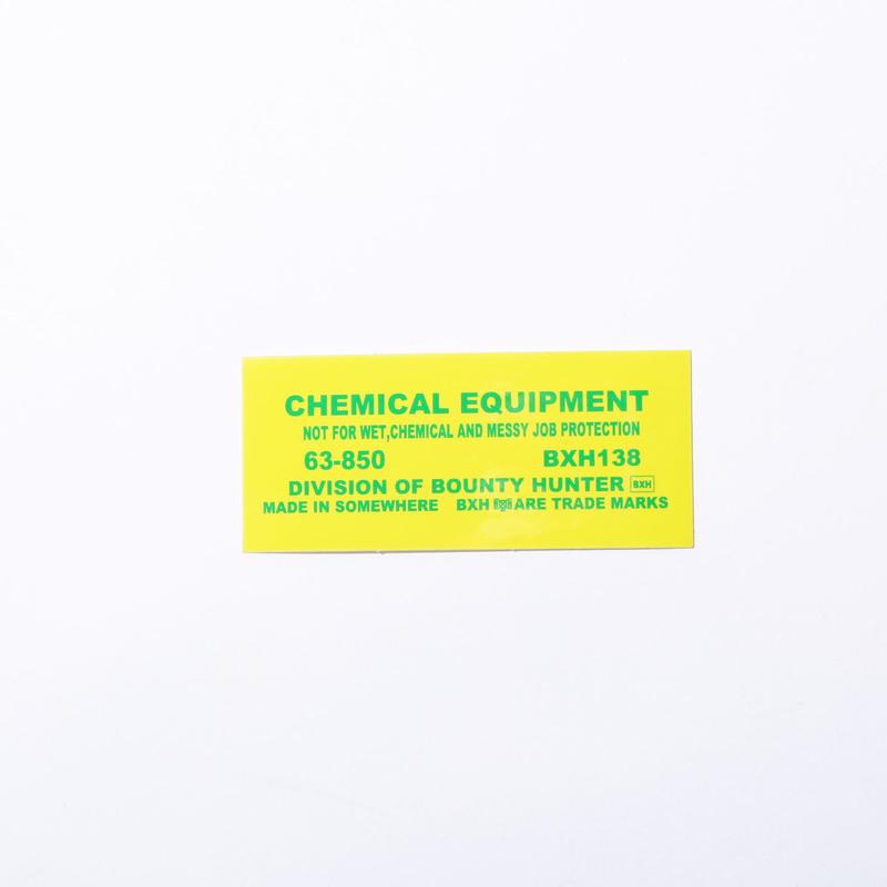 BxH Chemical Sticker