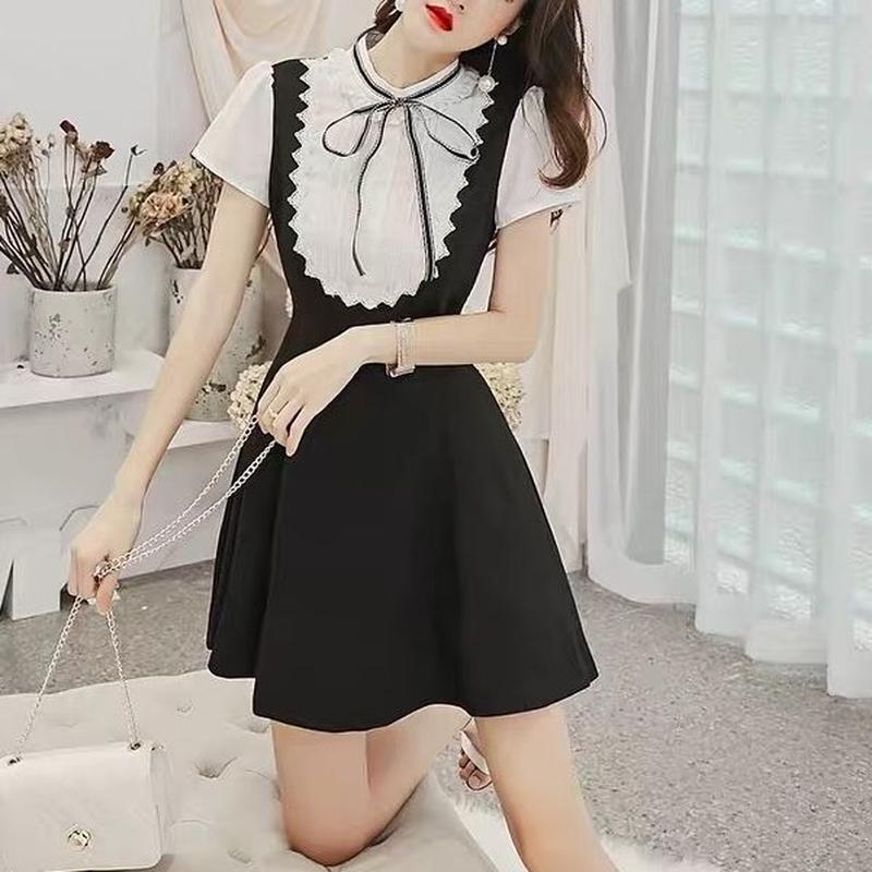 Taping ribbon made dress(No.300674)
