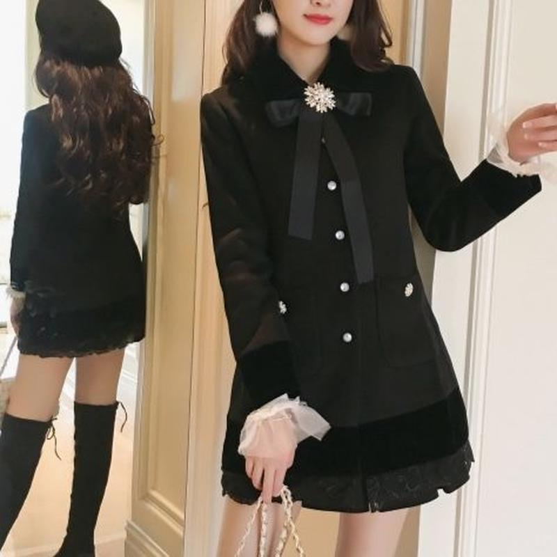 bijjou brooch dress coat(No.300513)