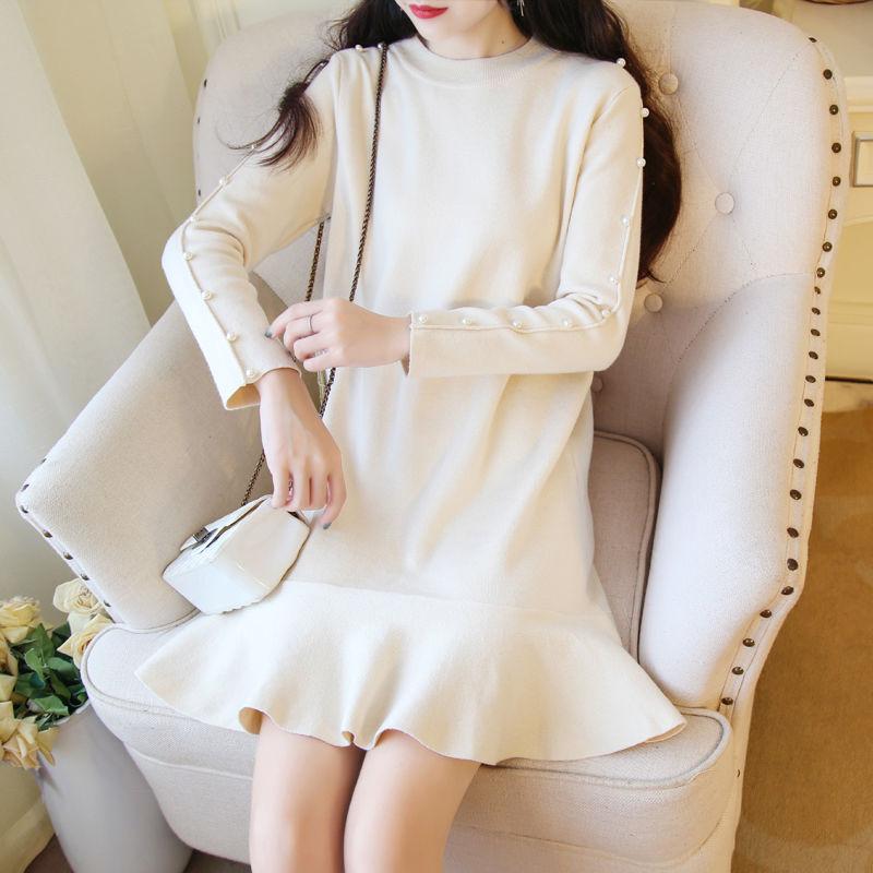 sleeve pearl knit OP(No.300503)