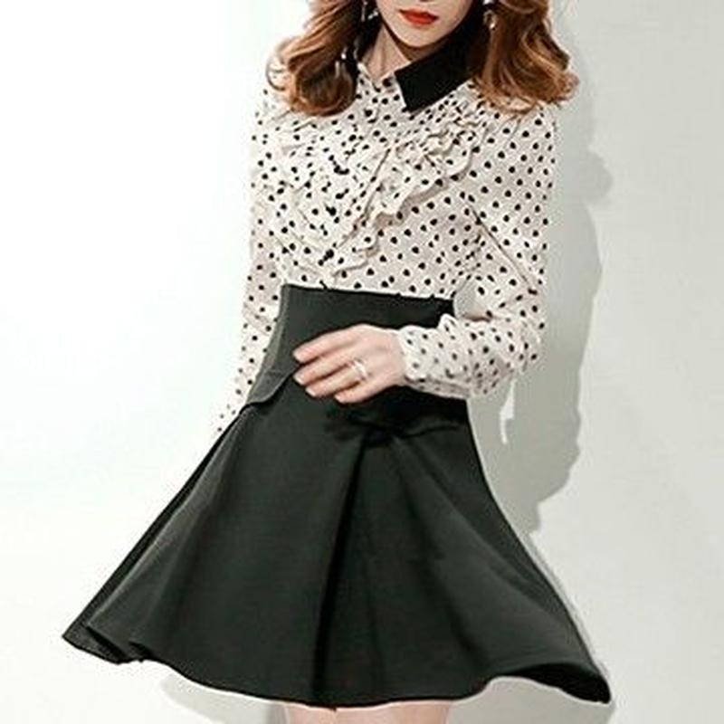 Dot blouse docking OP (No.300342)