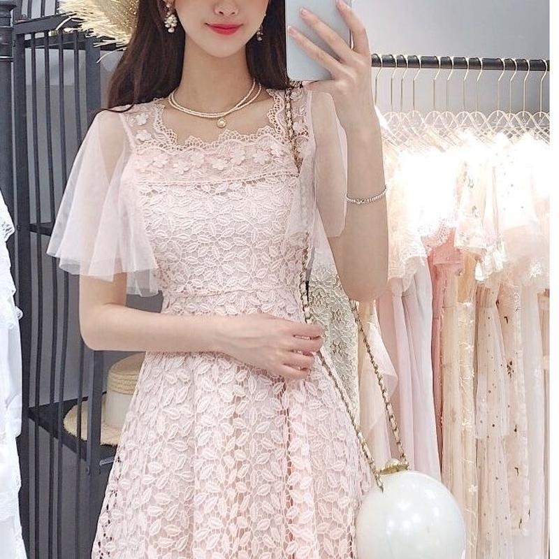Fairy flare sleeve dress(No.300670)