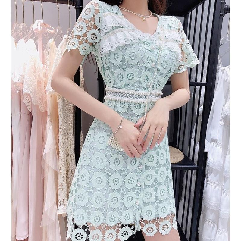 Pearl button fairy dress(No.300686)