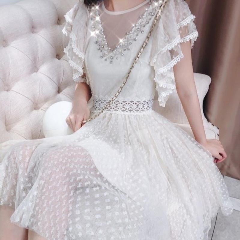 Ruffle sleeve fairy dress(No.300655)