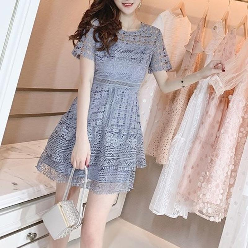 flower blue lace OP(No.300628)