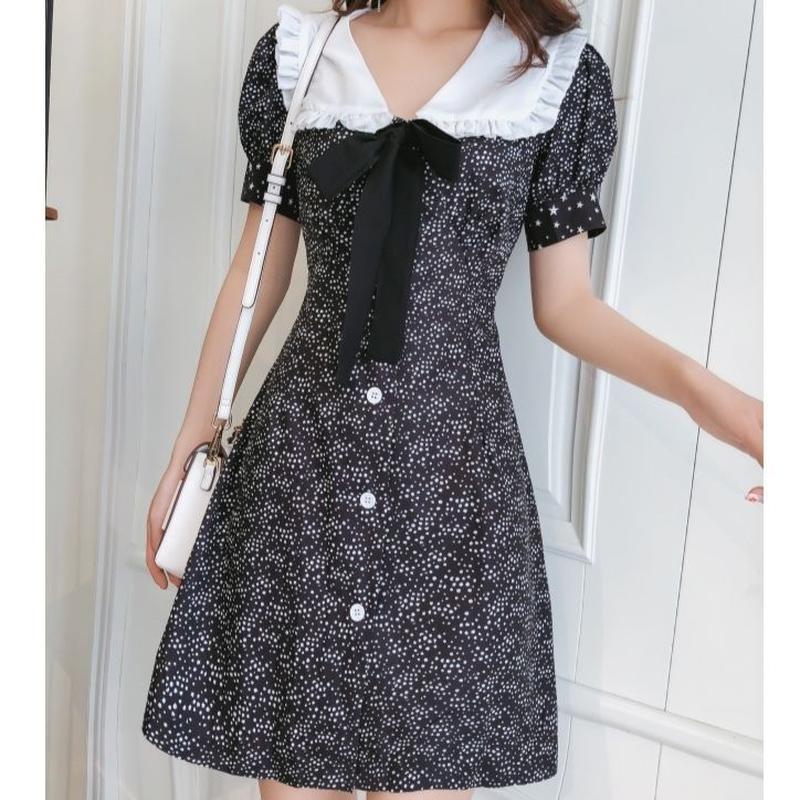 French waist line dress(No.300653)