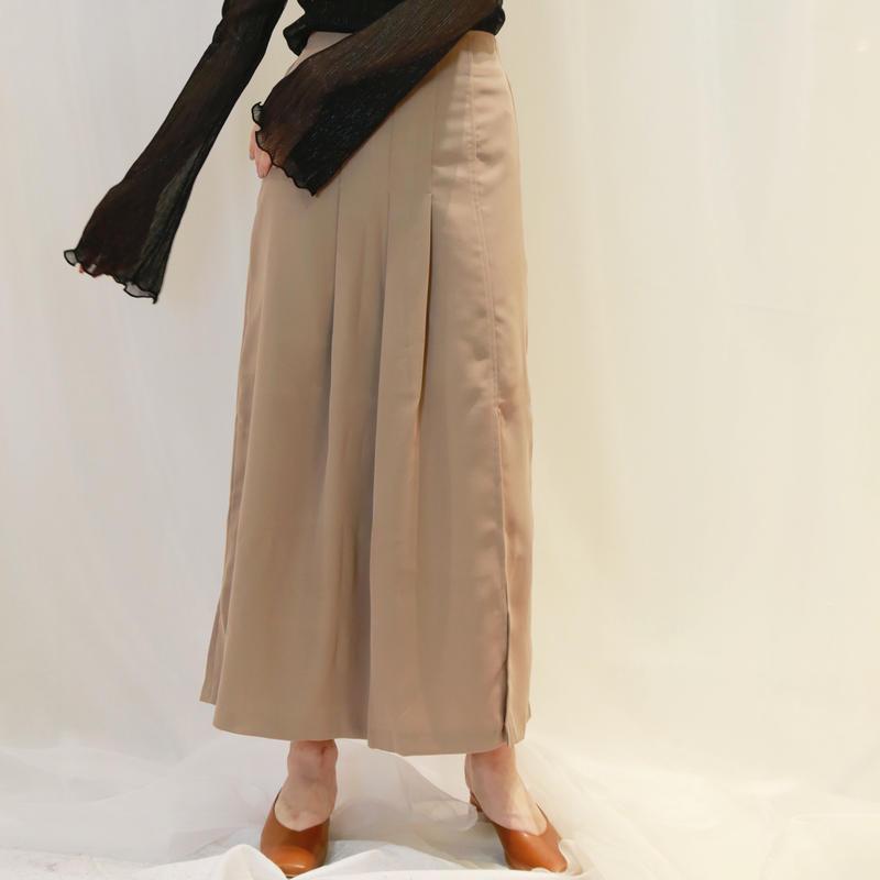 rough pleats skirt