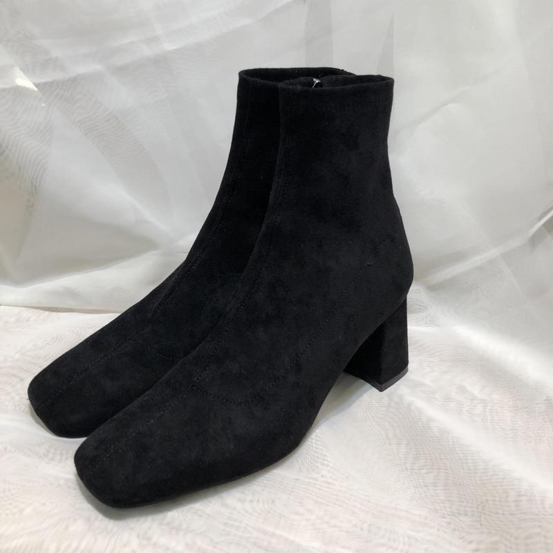 suède square toe boots