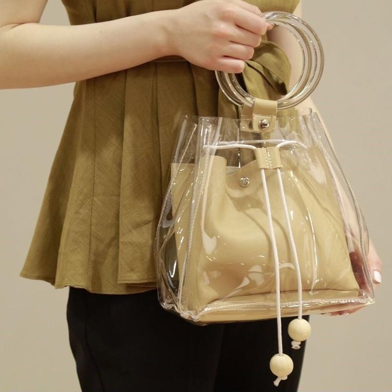 clear handle bag