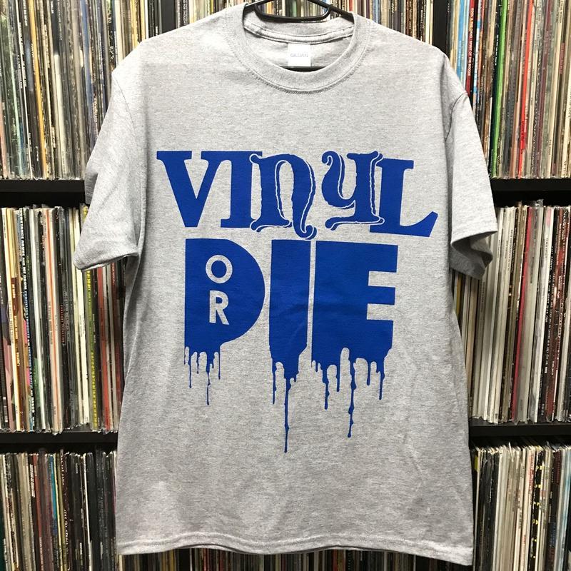 VINYL OR DIE T-SHIRT (Grey-Blue)