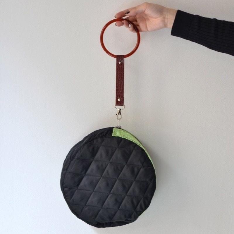 【DELTA別注】KISHIDAMIKI CIRCLE BAG / BLACK x BROWN