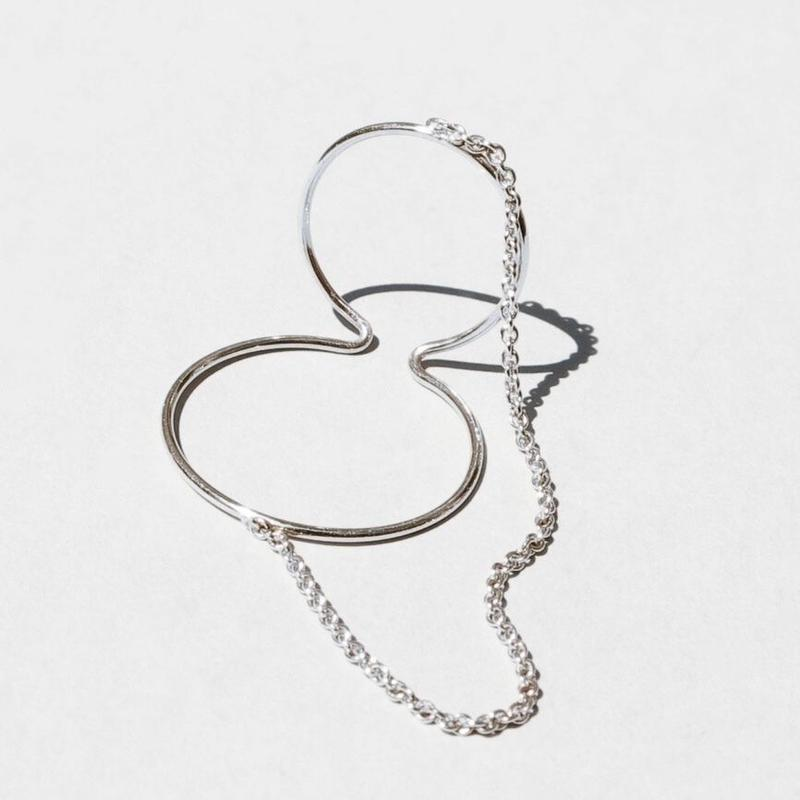 【予約商品】Saskia Diez / SILVER WIRE DOUBLE EARCUFF CHAINED / Mini