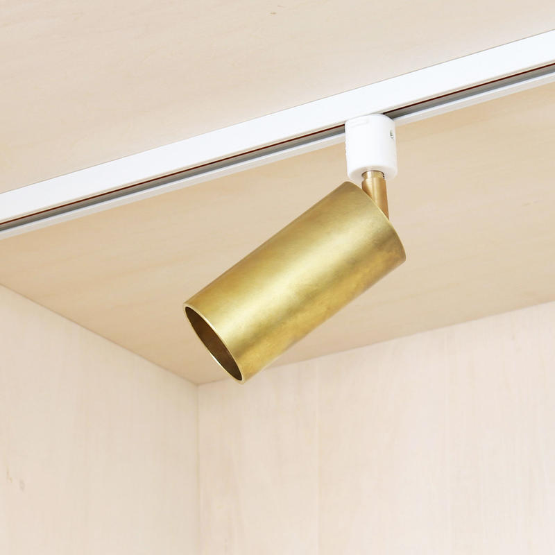 B01-R / BR E17 RAIL JOINT SPOT LIGHT / SOLID BRASS