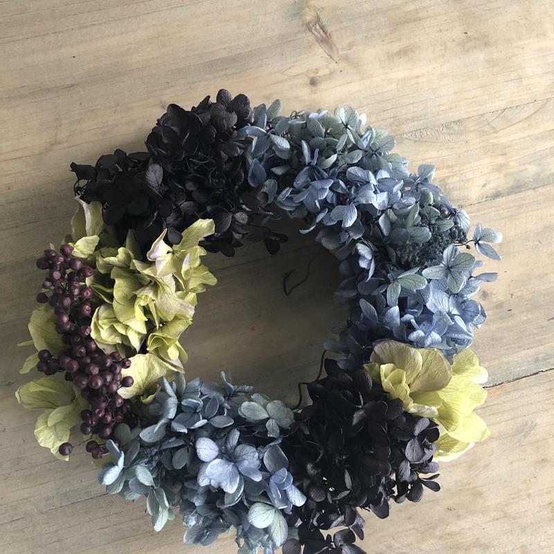 【Preserved flower】ブルーパープルのアジサイリース