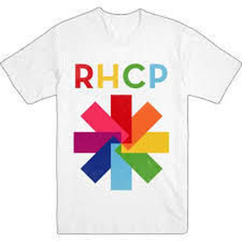 RED HOT CHILI PEPPERS COLOR BLOCK ASTERISK-T