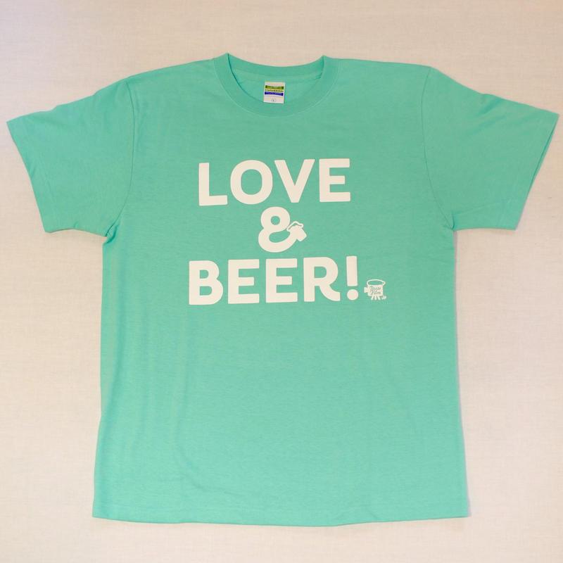 LOVE&BEER! Tee ミントグリーン