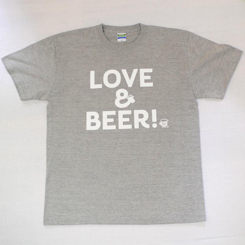 LOVE&BEER! Tee ミックスグレー