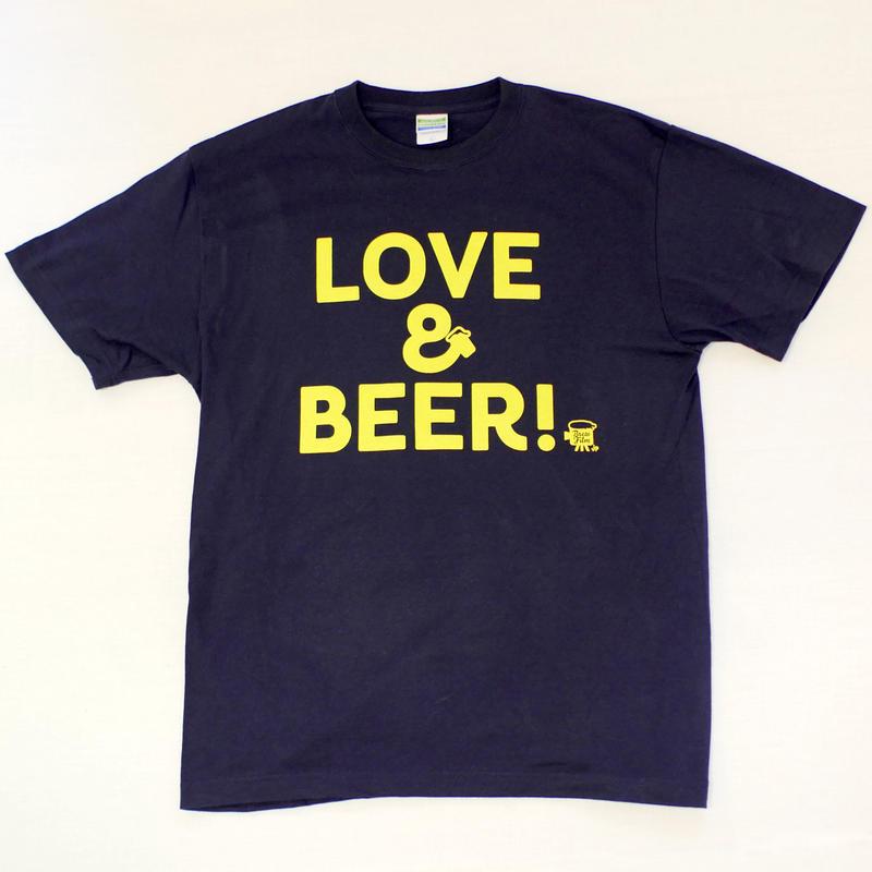 LOVE&BEER! Tee ネイビー