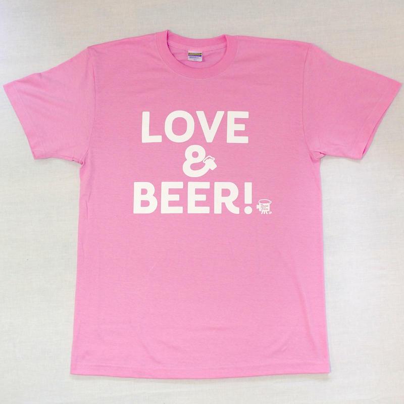 LOVE&BEER! Tee ピンク