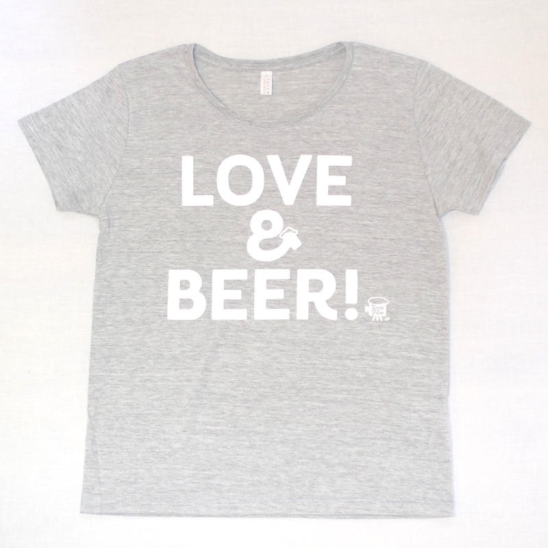【Woman】LOVE&BEER! Tee ヘザーグレー