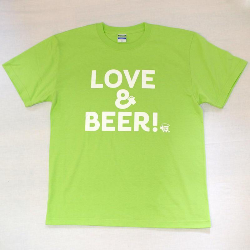 LOVE&BEER! Tee ライムグリーン