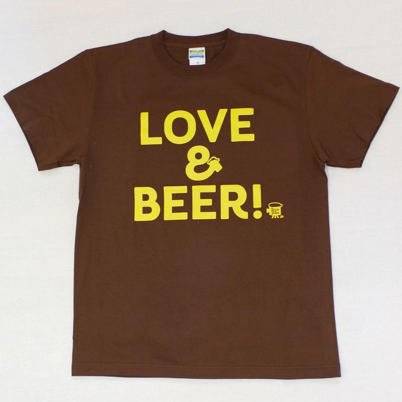 LOVE&BEER! Tee ダークブラウン