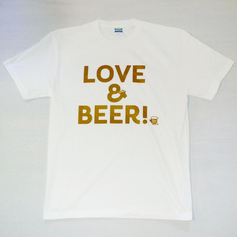LOVE&BEER! Tee ホワイト