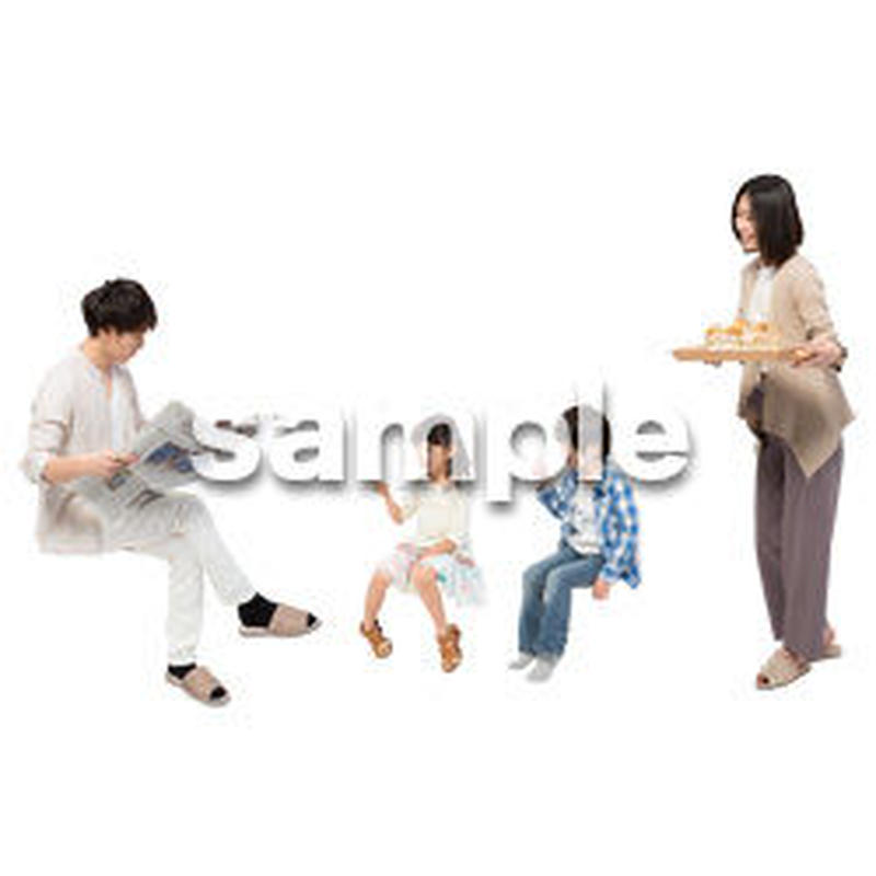 Cutout People 4人家族 II_352