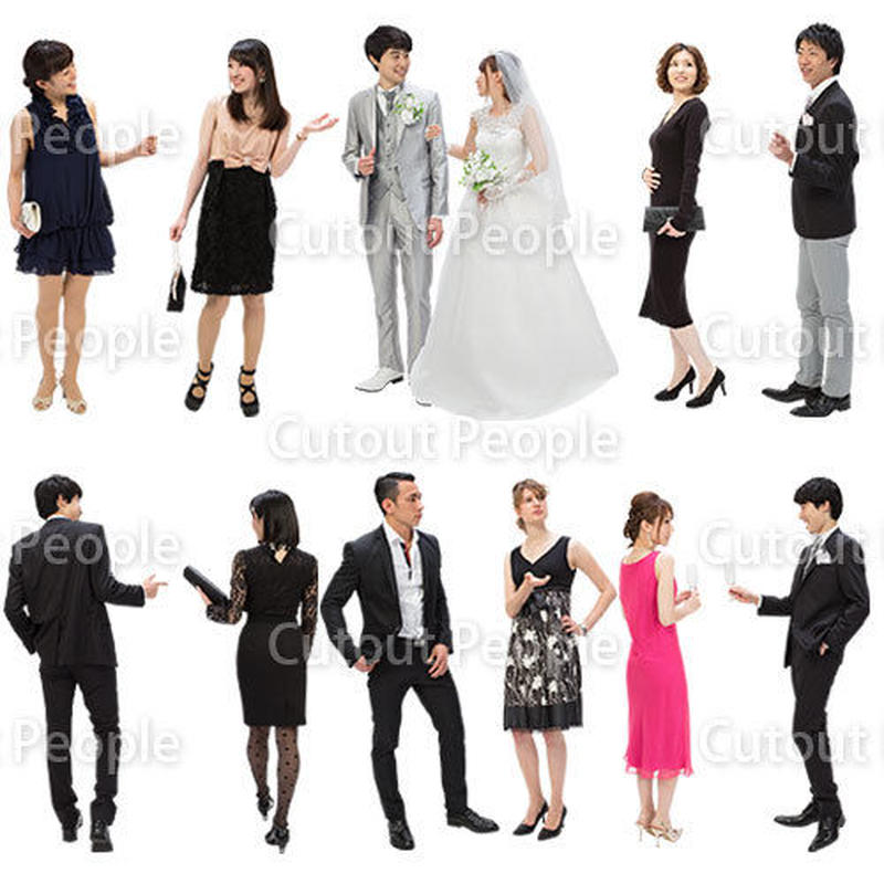 人物切抜きセット☆結婚式 1_set084