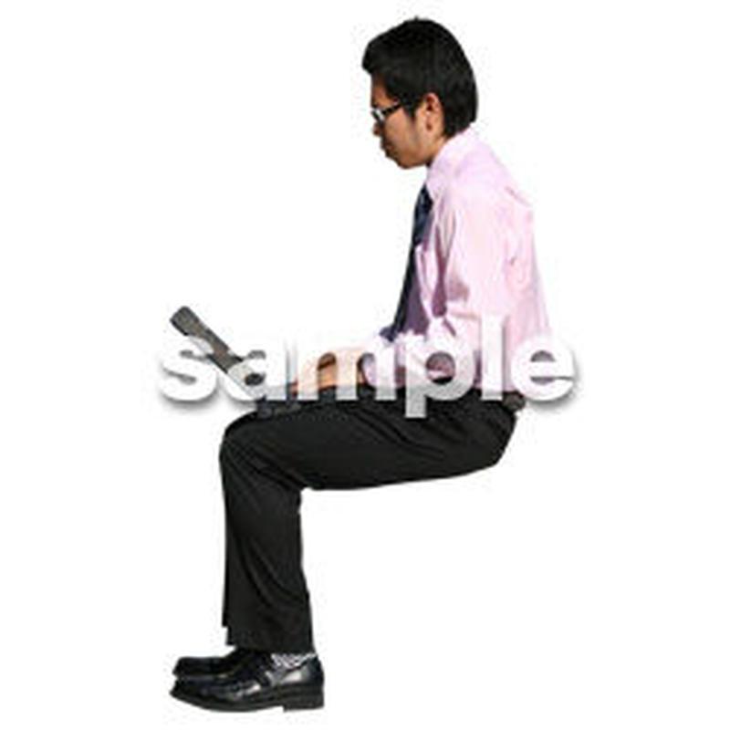 人物切抜き素材 座る人編 H_208