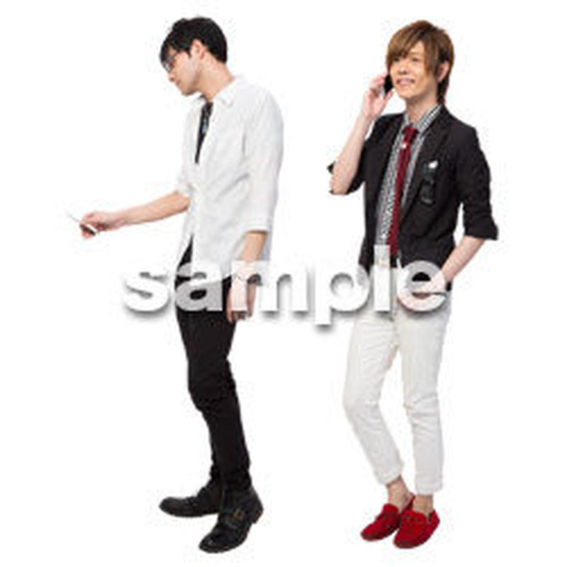 Cutout People 男性ペア JJ_407