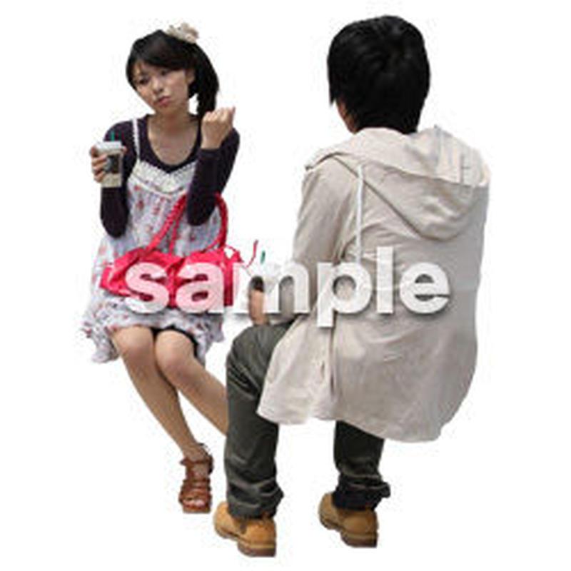 人物切抜き素材 レジャー・ショッピング編 L_407