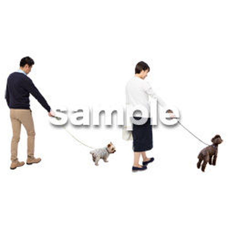Cutout People 犬の散歩 II_469