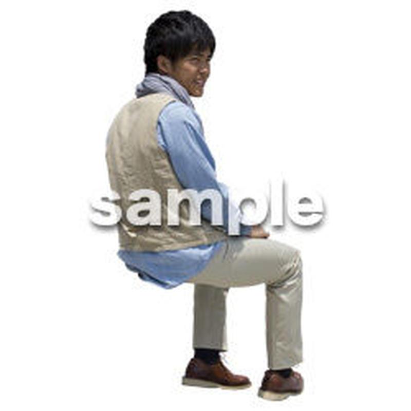 人物切抜き素材 座る人Ⅱ編 Q_560